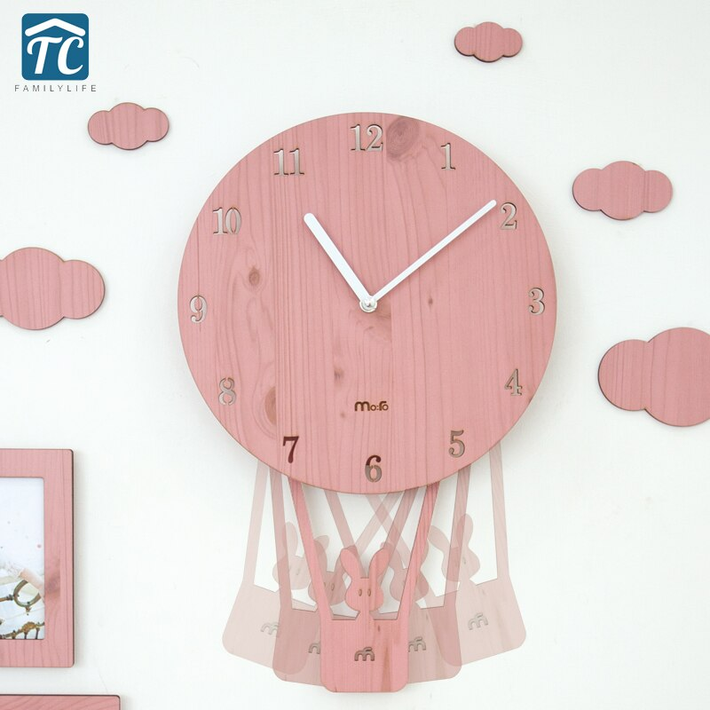 Креативные настенные часы с персонажами из мультфильмов, простые часы для гостиной, Детские тихие милые часы для спальни