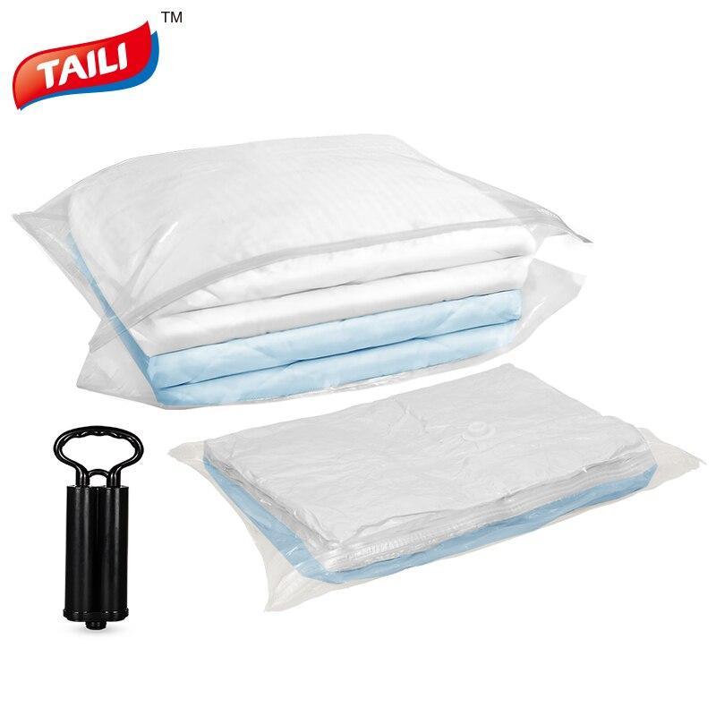 Bolsa de vacío para ropa bolsa de almacenamiento transparente armario maleta para ropa organizador bolsa de almacenamiento al vacío