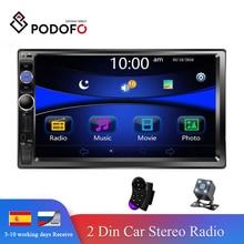 "Podofo Radio 2 din Auto Multimedia Player 7 ""Autoradio 2din Stereo Android Mirrorlink für Volkswagen Nissan Hyundai Kia Toyota"