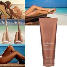 125ml Self Tanner Longlasting Moisturizing Sunless Tanning Lotion Body Cream Face Skin Care Tools