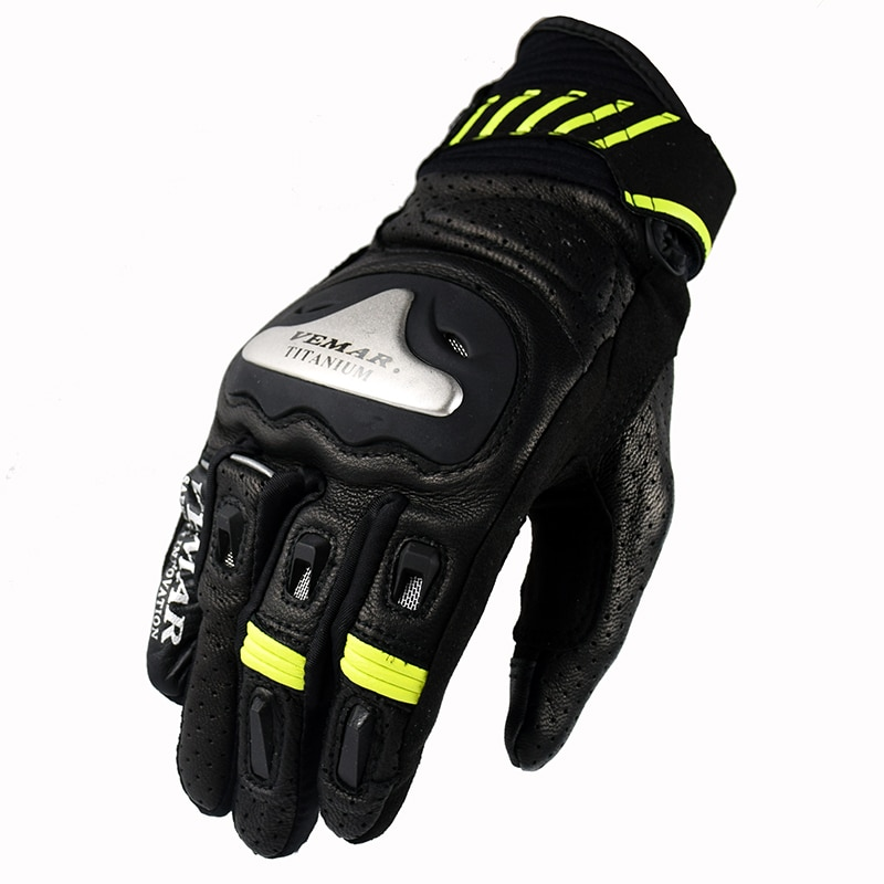 Guantes Vemar para motocicleta, guantes de cuero para Motocross, guantes Vintage para motociclista, guantes para bicicleta