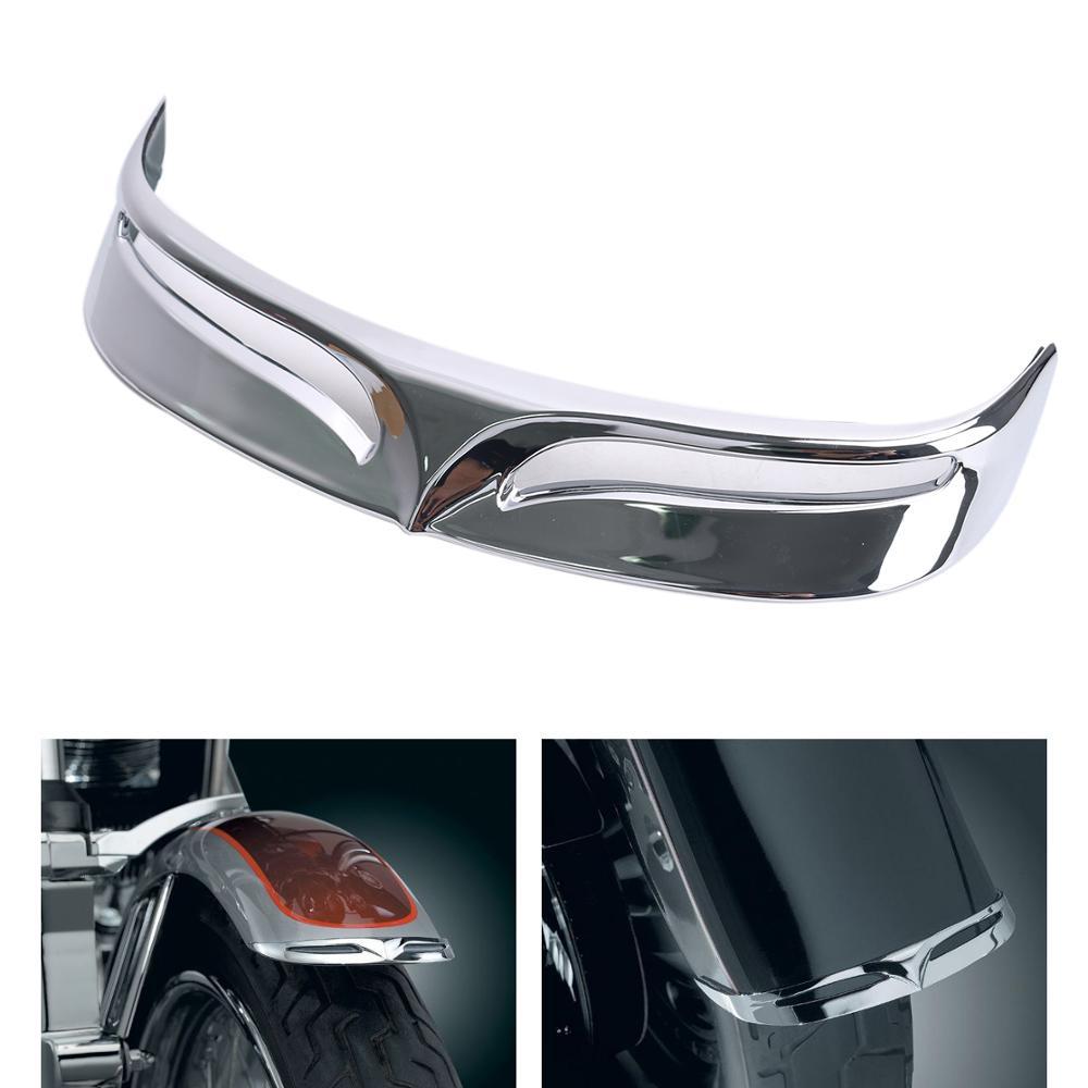 Мотоциклетный хромированный задний грязевой Щиток с задней кромкой крыло с расклешенным наконечником Накладка для Harley Softail FLSTF Fat Boy 2007-2017