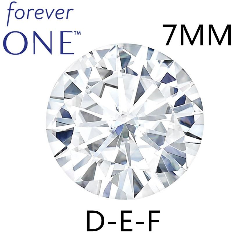 Teste Positivo 7mm 1.1 Quilates VS DEF Cor Charles Colvard Para Sempre Um Certificado Corte Redondo Diamante Moissanite Pedras soltas