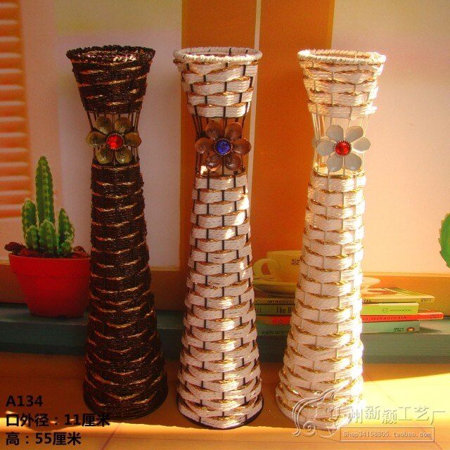 Venta caliente-florero de moda-Flor de hierro-florero de piso-florero de ratán-12
