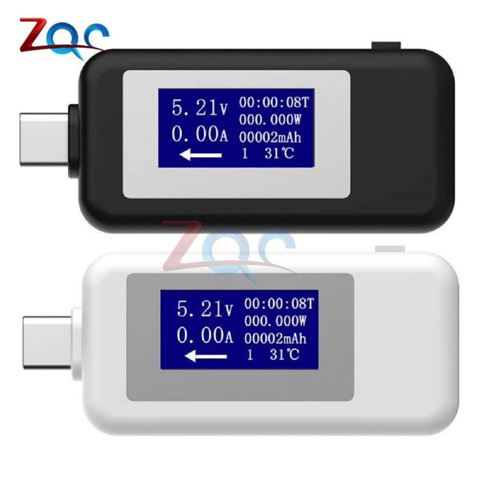 Tipo-c usb tester dc voltímetro digital USB-C tensão medidor de corrente amperímetro detector tipo c banco de potência carregador indicador usb c