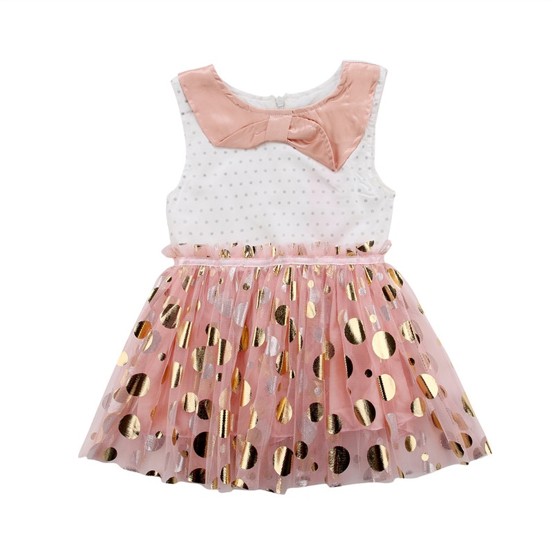 PUDCOCO Newest Summer Toddler Infant Kids Girl Dot Sequins Tulle Party Dress Sundress Kids Girls Sleeveless Dresses 1-6T