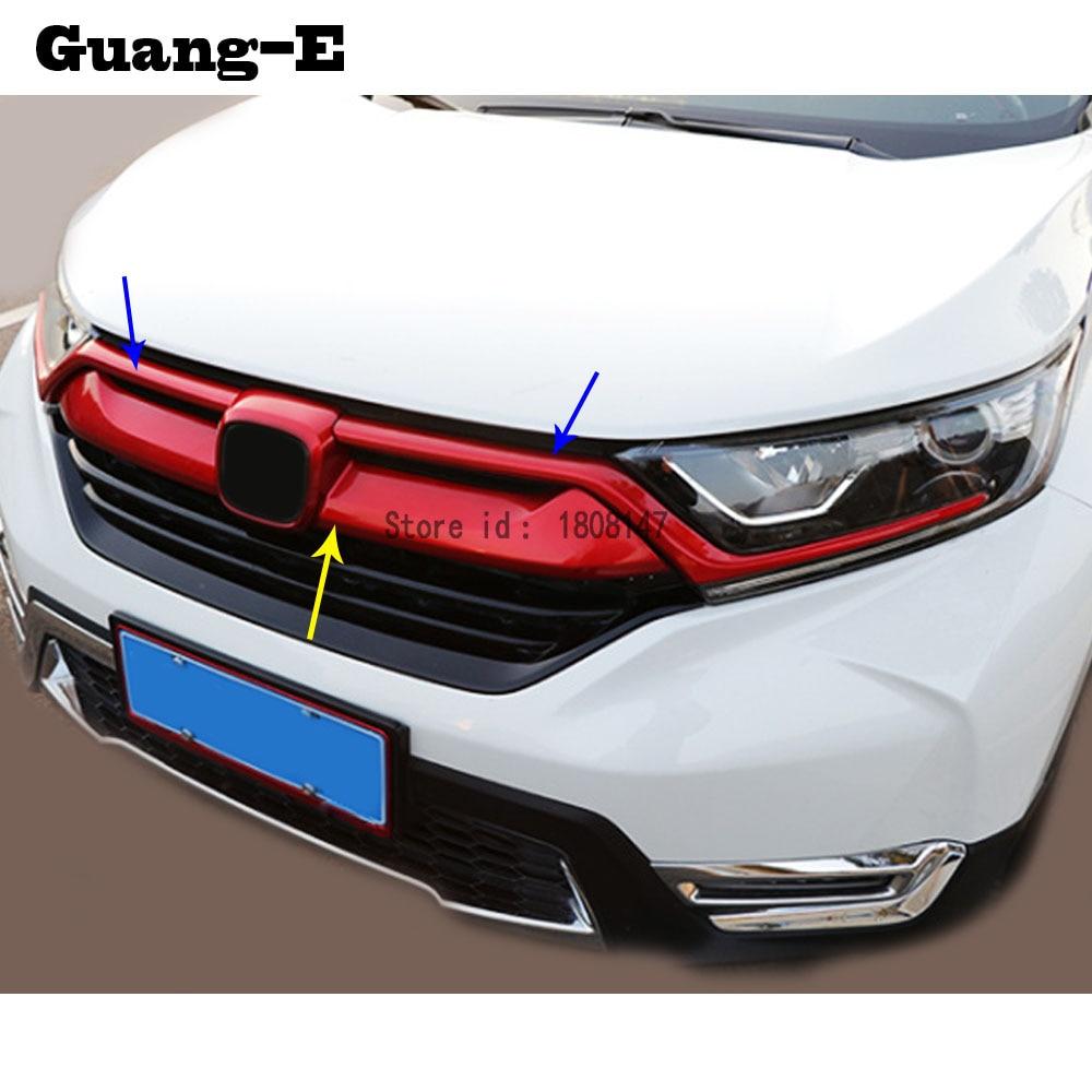 Für Honda CRV CR-V 2017 2018 2019 2020 auto aufkleber körper trim Front logo dekorative mark Grid Grill kühlergrill racing rahmen teil