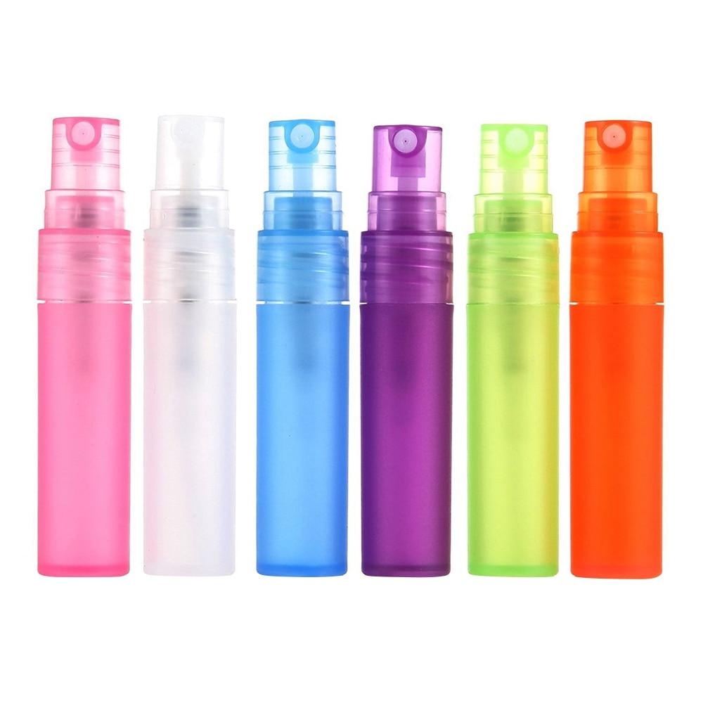 1 piece 5ml 10ml Travel Mini Empty Atomizer Perfume Spray Bottle Pen Plastic Liquid Cosmetic Container Refillable Random Color