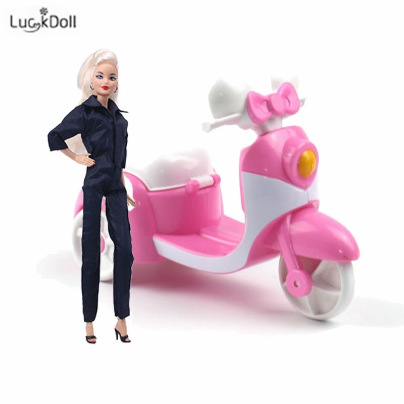 Barbies Bicycle Car Motorcycle Three-Wheeled Scooter For Barbies11.8-Inch Doll Accessories Girls Toy