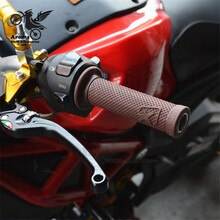 22 MM universal gummi cafe moto rbike griff bar griffe für Harley softail teil professionelle moto lenker moto rcycle zubehör