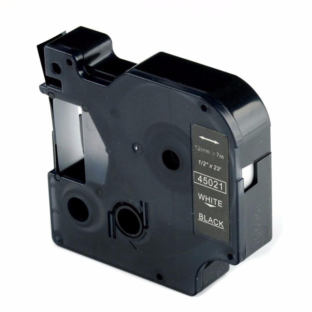 JX-LCLYL nuevo cartucho de cinta D1 45021 Blanco/Negro 12mm x 7m