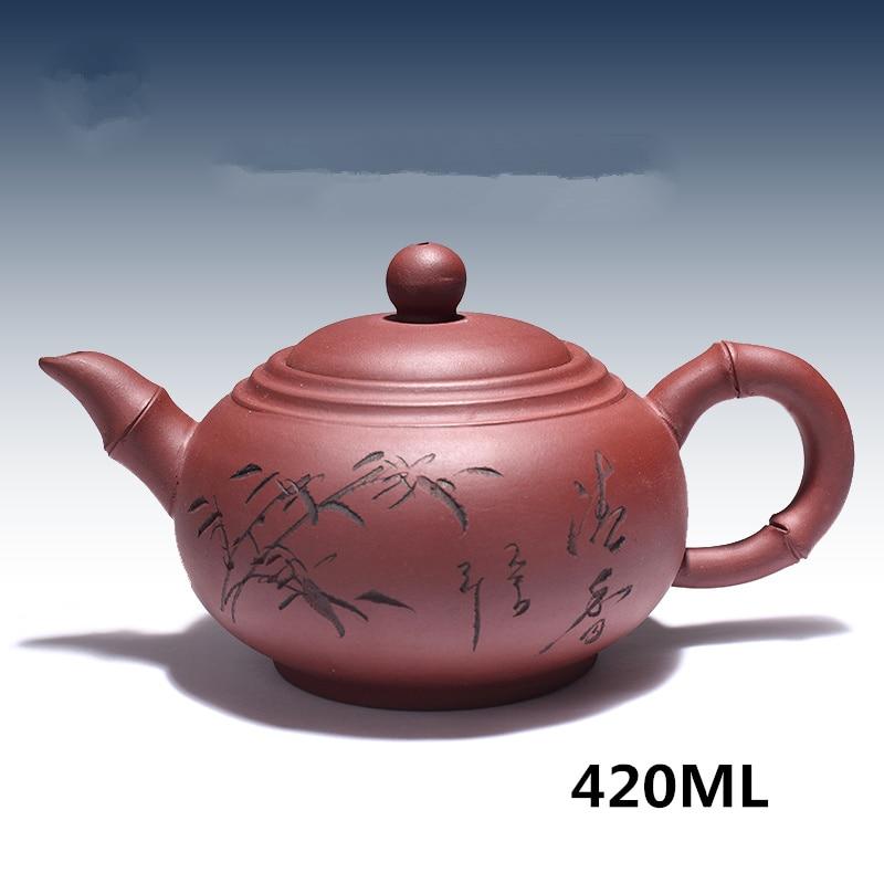 WSHYUFEI 2019 Kung Fu Jogo de Chá Yixing Bule de Chá Artesanal Conjunto Pote Copo 300 ml ~ 430 MLZisha Cerâmica Chinesa cerimônia do chá Presente