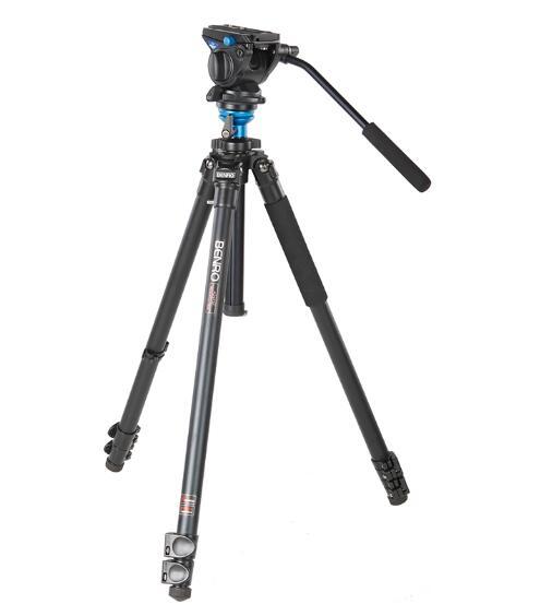 Benro-رأس فيديو وأرجل قفل ، A2573FS4 S4