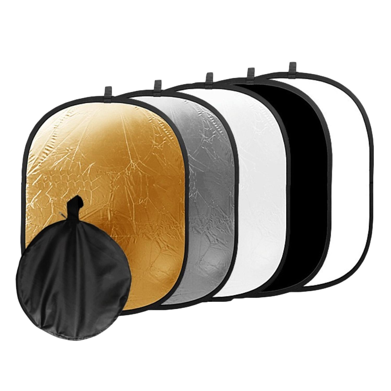 Gosear 60x90 cm 5-in-1 Tragbare Faltbare Oval Licht Reflektor Fotografie Studio Foto Kamera Flash beleuchtung Zubehör