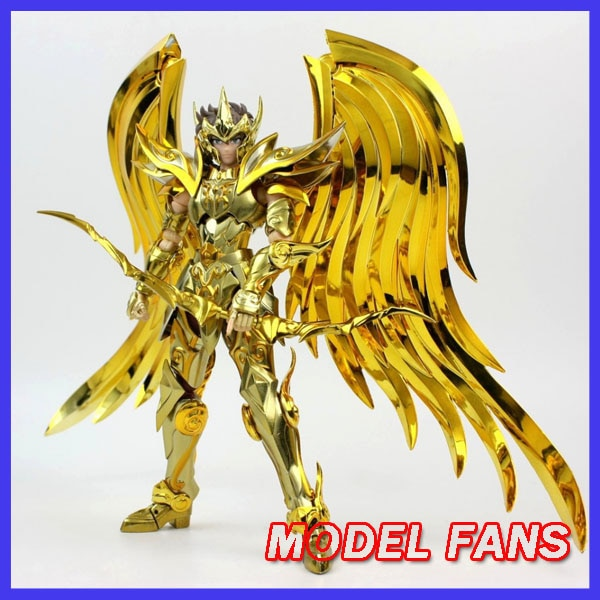 Modelo de FANS en-STOCK GT gran juguetes sog ex aioros de Sagitario ALMA DE ORO Saint Seiya armadura de Metal Myth Cloth oro figura de acción