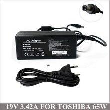 19 فولت 65 واط محمول ac محول carregador دي bateria portatil ل toshiba PA-1650-21 PA3467U-1ACA PA3714U-1ACA ordenador portatil