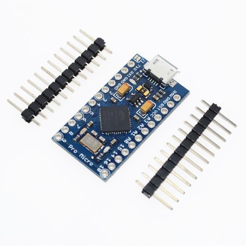 ATmega32U4 5 V/16 MHz Módulo New Pro Micro para arduino com 2 linha de cabeçalho pin Para Leonardo em estoque. melhor qualidade