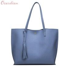 OCARDIAN bolsas Fashion Women Girls Tassels Leather Bag Shopping Handbag Shoulder Tote Bag Made in China Casual #30 2018 Gift