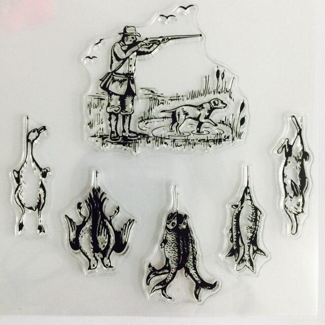 Sello de silicona transparente de bosque de montaña/sello para DIY scrapbooking/álbum de fotos para hacer tarjetas decorativas