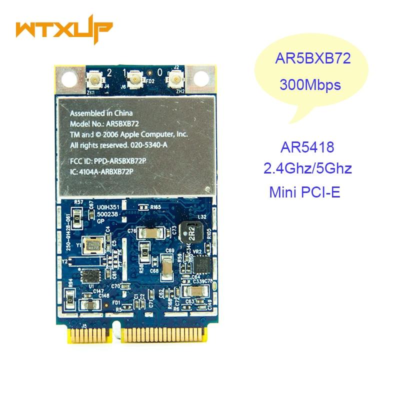AR5418 AR5BXB72 AR5008 300Mbps 802.11a/b/g/n WiFi de doble banda WLan inalámbrica Mini PCI-E tarjeta para Apple Mac Dell Acer Asus