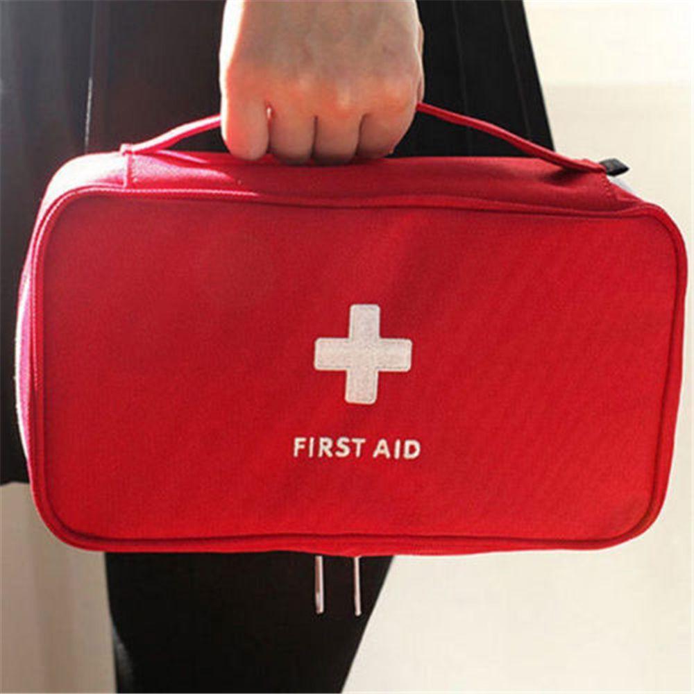 1 Uds. Bolsa de primeros auxilios vacía portátil, bolsa para el hogar, oficina, uso médico, emergencia, viaje, bolsa de rescate, herramientas médicas