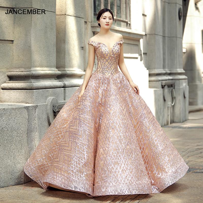 J66569 فستان Quinceanera وردي فاتح ، أكتاف عارية ، مثير ، ياقة على شكل v ، ترتر لامع ، 2021