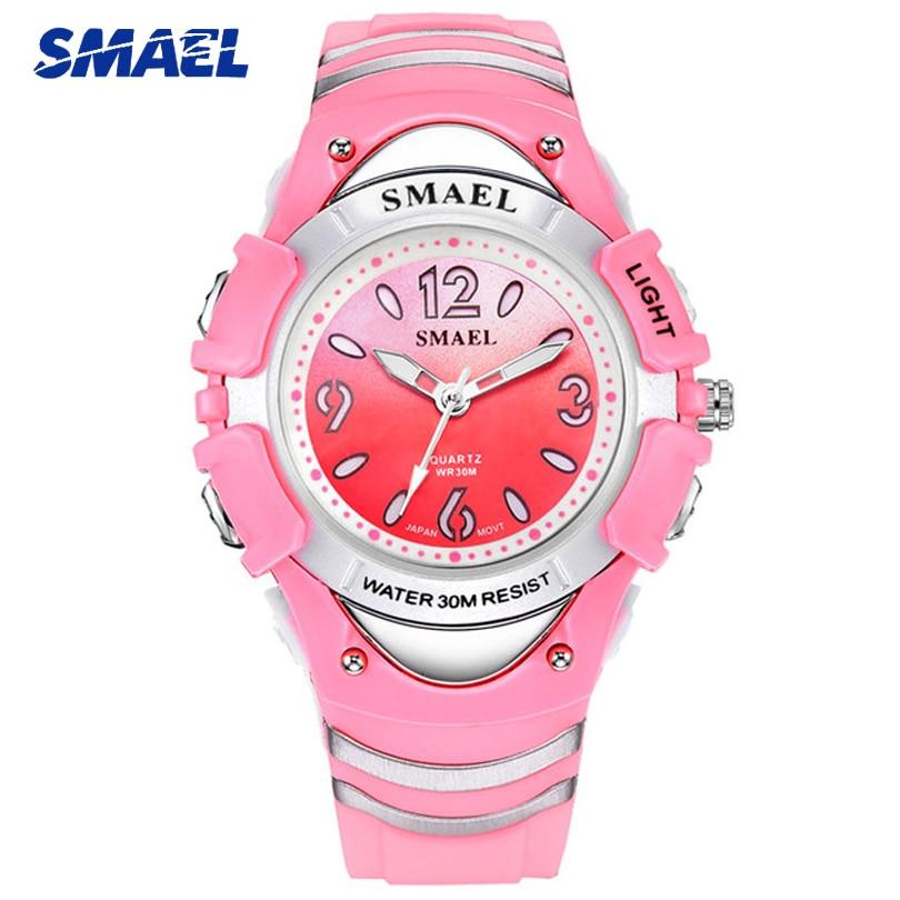 Top Brand SMAEL Fashion Children Watch Shock Resistant Sport Boy Girl Watch Cute Student Waterproof Clock Relogio Infantil