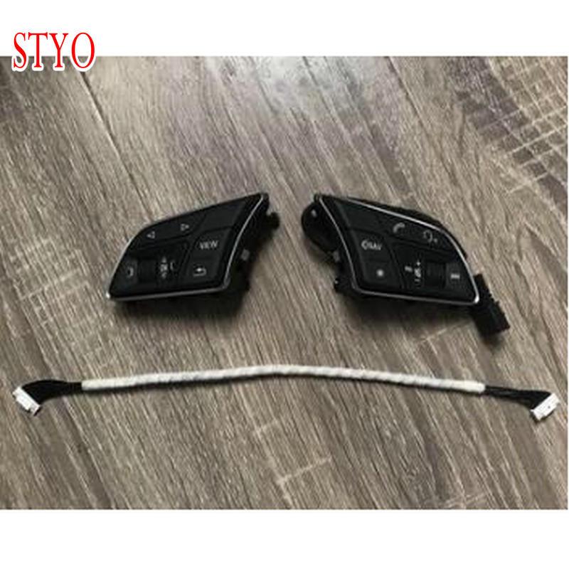 STYO para Audii A3 2017. A4 B9 Q2 multifunción botones de volante 8W0 951, 523