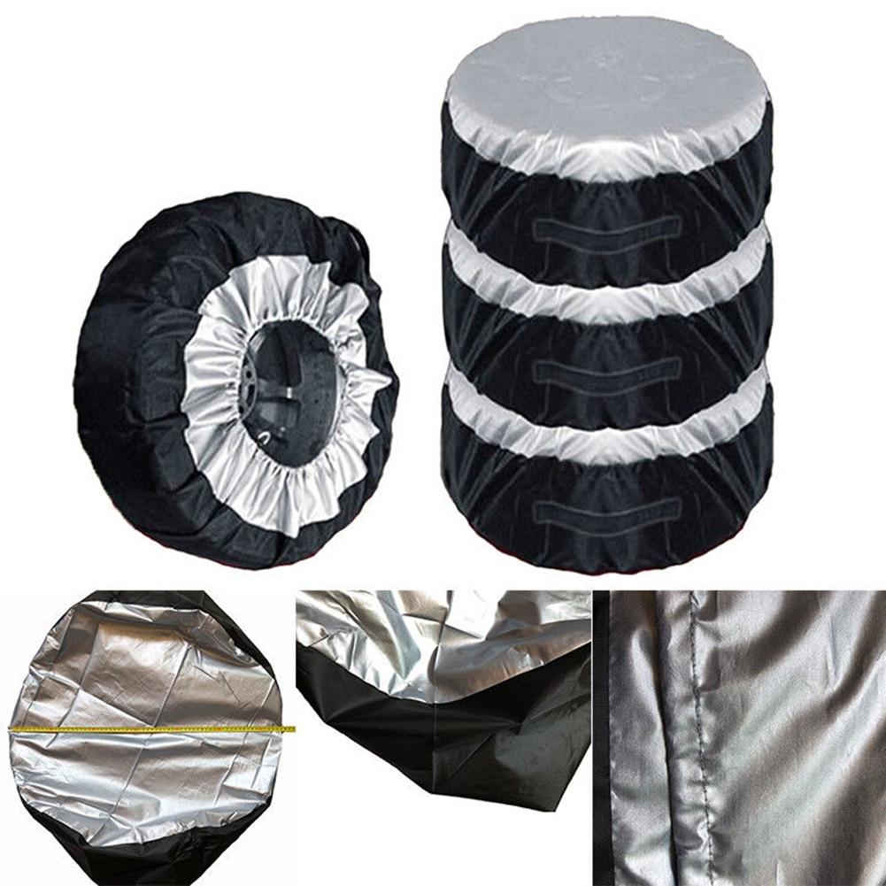 Cubierta Universal para neumático de coche, cubierta de neumático de repuesto de coche, bolsas de almacenamiento, bolsa de transporte, cubierta de neumático de poliéster para protección de rueda de coche