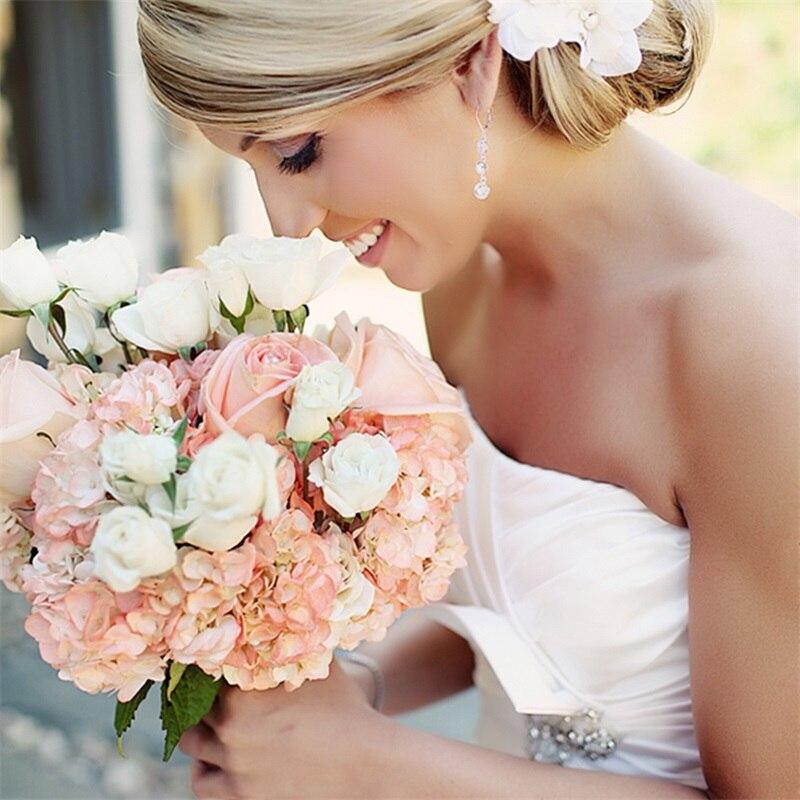 Chencheng 6 peças/lote 45 cm flor artificial hortênsia casamento falso flor bouquet de noiva mesa decoração para casa presente de natal