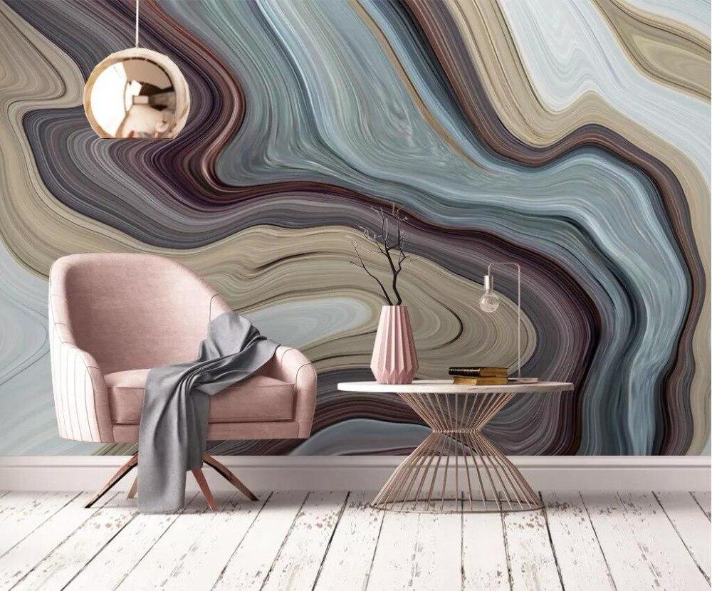 Papel pintado Mural personalizado 3D personalizado paisaje abstracto piedra pared de fondo
