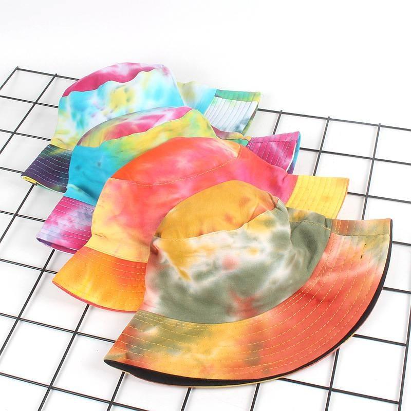 2019 Cotton Color graffiti print Bucket Hat Fisherman Hat outdoor travel hat Foldable Sun Cap Hats for Men and Women 560
