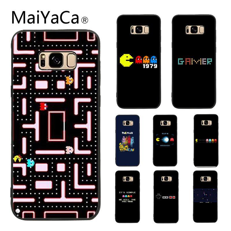 Funda de MaiYaCa para Galaxy S9 Pacman jugador nerd oferta especial Teléfono de lujo funda para Samsung Galaxy S5 S6 S7 S8 S9 S6 borde S7 borde