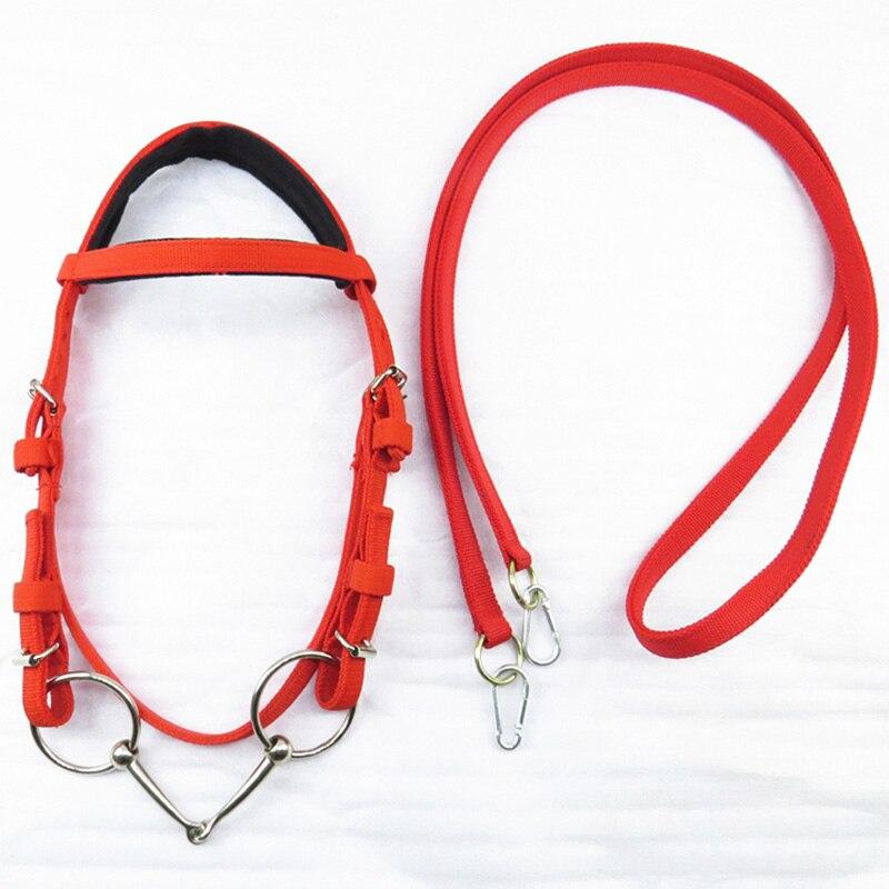 Прочный ошейник с головой лошади, регулируемая подставка из ПВХ для лошадей с красной тесьмой, подставка для лошадей, Гоночное оборудование
