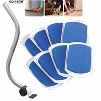 Slide-Eez Lift System One Lifter and 8 Sliding Pads To Move Furniture and Appliance Across Any Surface With Ease
