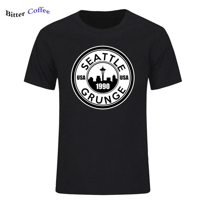 Nueva Camiseta Grunge de Seattle, camisetas harajuku de diseño superior, camisetas de Hip Hop, divertida Camiseta de Ángel grunge, camisetas y Tops de verano con cuello redondo para hombres