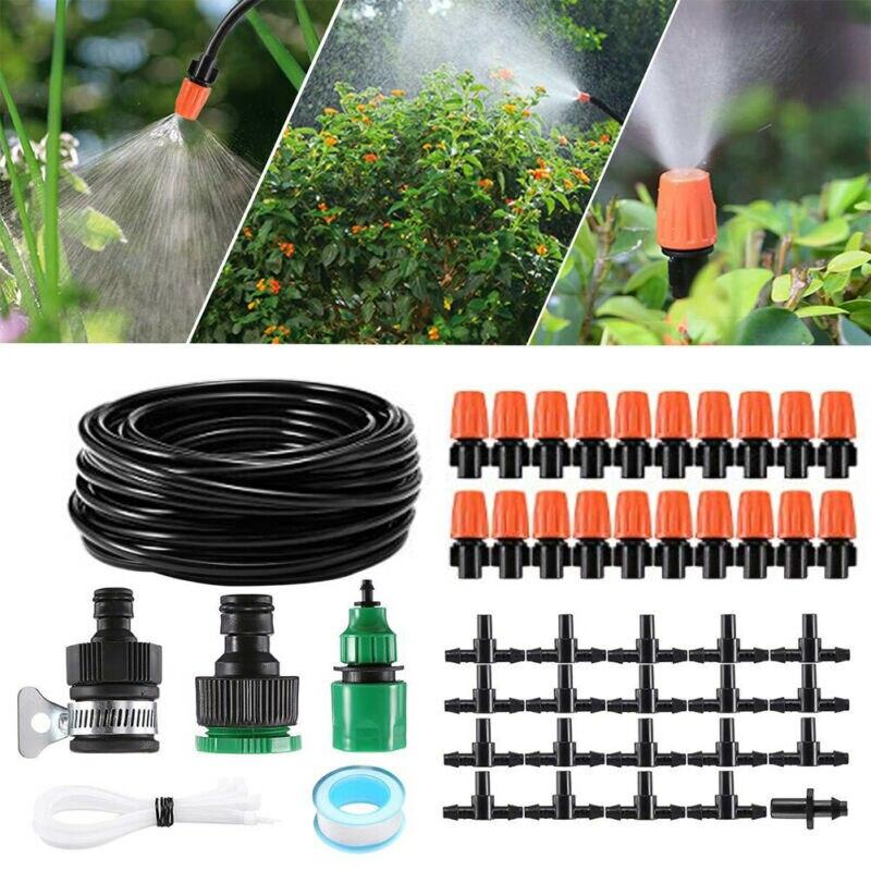 15 M/20 piezas/boquilla rociadora en espiga rociador de jardín riego de césped DIY Micro riego por goteo riego de auto planta