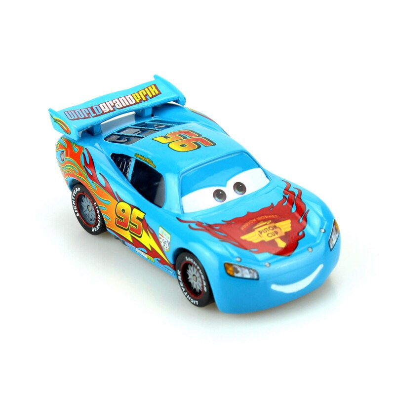 Disney Pixar coches azul Edición Limitada Rayo McQueen 155 escala fundición de aleación de Metal modelo de coche lindo juguetes para niños regalos