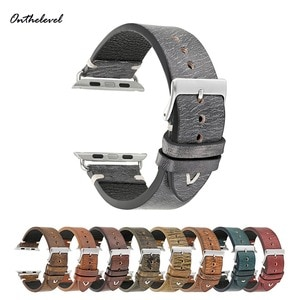 Onthelevel Vintage Handmade Mix Color Watch Strap for apple watch 42mm Replacement  Adapter Link Watch Band For iWatch