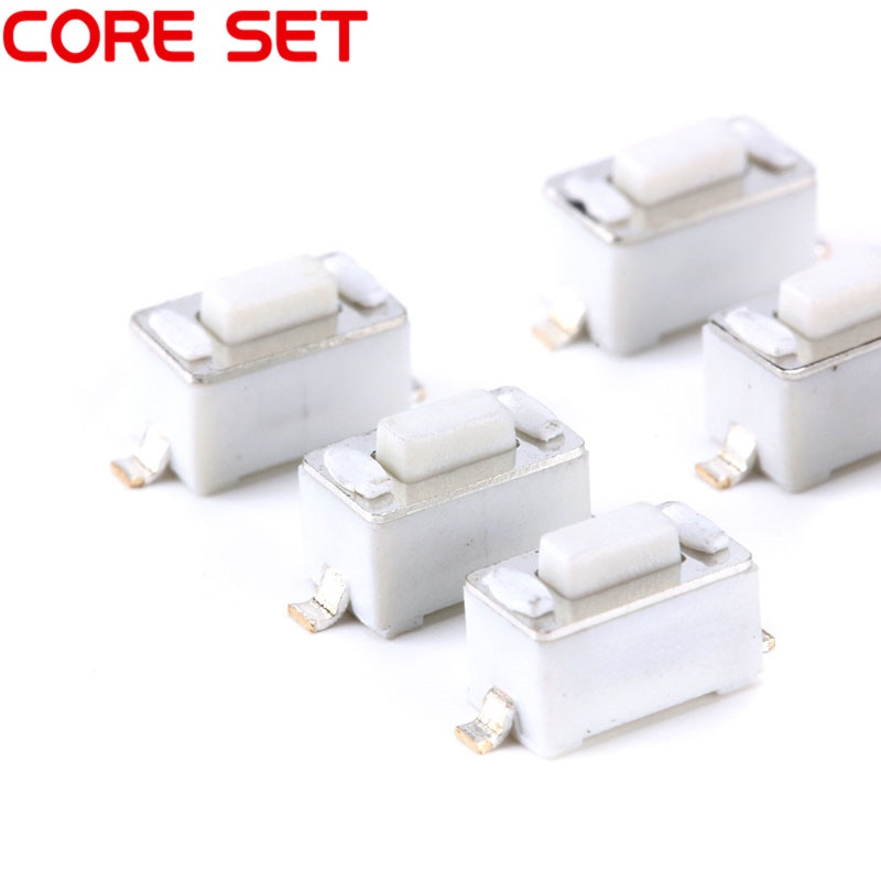 1000PCS 3X6X4.3MM Botão Tátil Tact Switch Micro Interruptor Branco 3*6*4.3 MILÍMETROS SMD