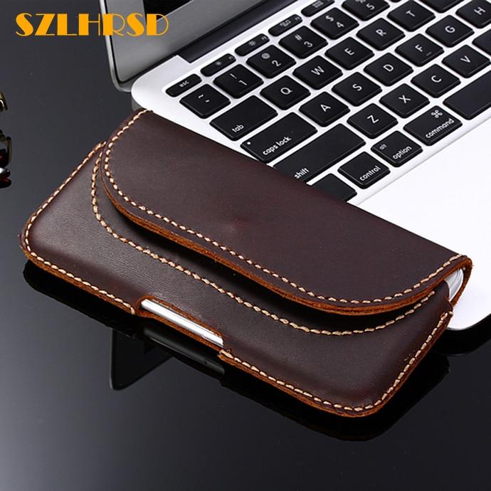 SZLHRSD خمر حزام كليب الهاتف حقيبة ل Xiaomi Redmi 6 برو Redmi Y2 S2 حالة جلد طبيعي الحافظة ل Xiaomi مي 5s زائد غطاء