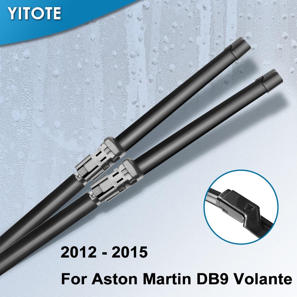 Limpiaparabrisas YITOTE, escobillas para Aston Martin DB9, Volante Fit, brazos de botón 2012 2013 2014 2015
