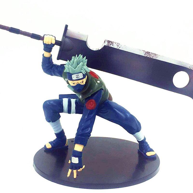 ¡15cm Naruto Series GEM figura Ninkai Taisen Kakashi Hatake Guerra Mundial Shinobi Ver! Momochi Zabuza espada MODELO DE figura de acción de juguete