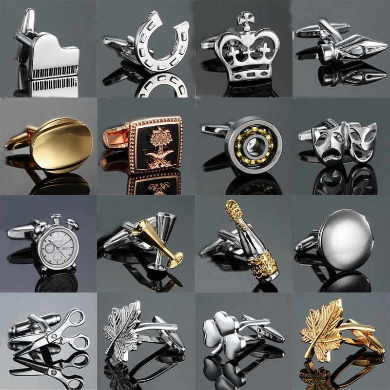 Запонки в 18 стилях, высококачественные запонки в форме чашки, ножницы, запонки, пианино, бас, новинка, запонки, опт и розница