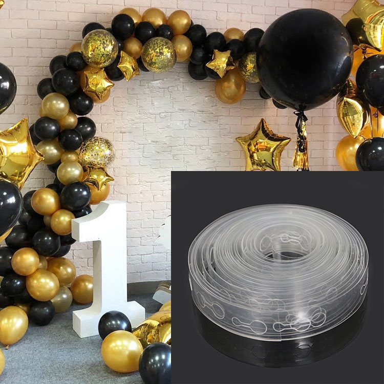 5M Plastic Balloon Chain PVC Rubber Wedding Party Birthday Balloons Backdrop Decor Balloon Chain DIY Happy Birthday