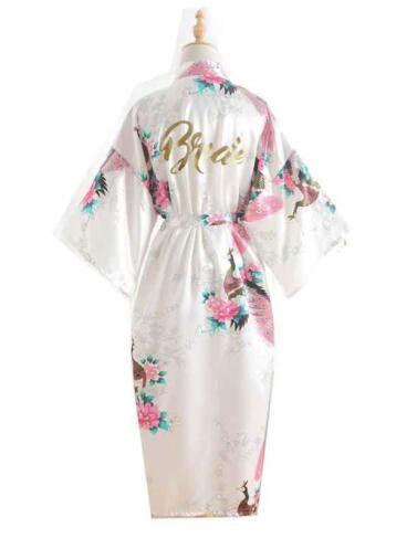 Silk Bridesmaid Bride Robe Maid Of Honor Robe Mother Of The Robes Women Satin Wedding Kimono Sexy Ni