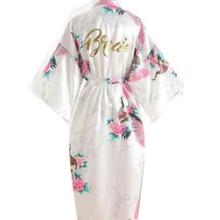 Silk Bridesmaid Bride Robe Maid Of Honor Robe Mother Of The Robes Women Satin Wedding Kimono Sexy Ni