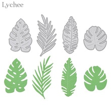 Lychee Life 4pcs Monstera Leaves Cutting Dies Stencils For DIY Scrapbooking Photo Album Decorative Embossing DIY Paper Cards