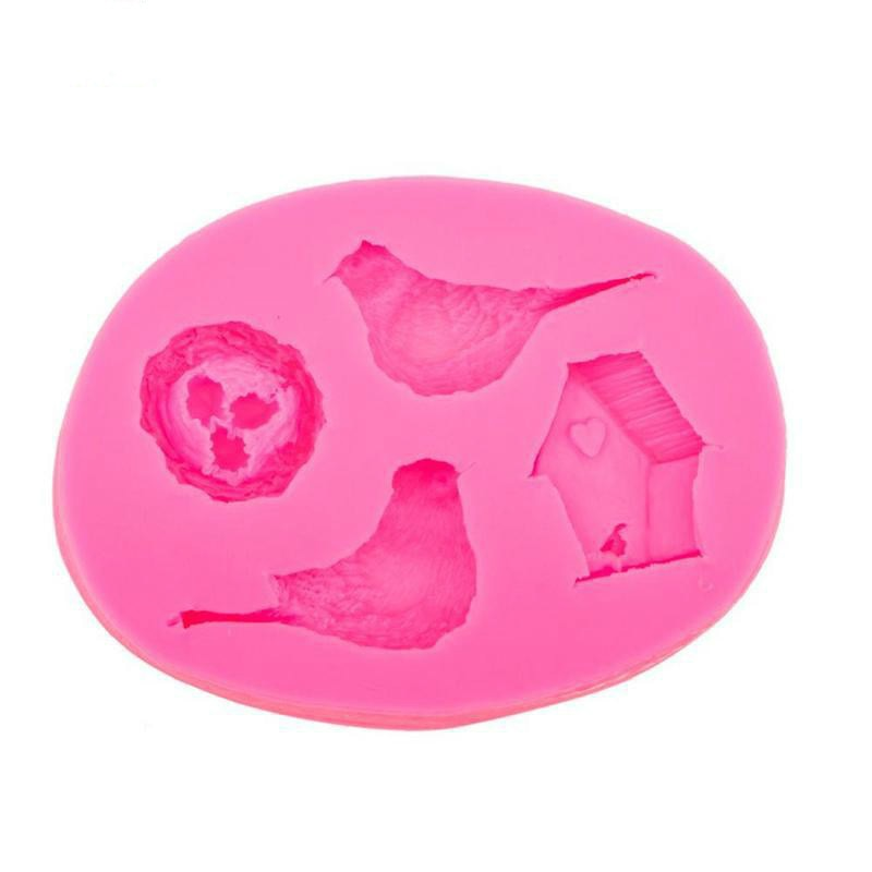 Molde de silicona para Tartas, nido de huevos de pájaro, molde con forma de chocolate, molde para dulces, utensilios de silicona para hornear, utensilios para decorar pasteles y magdalenas