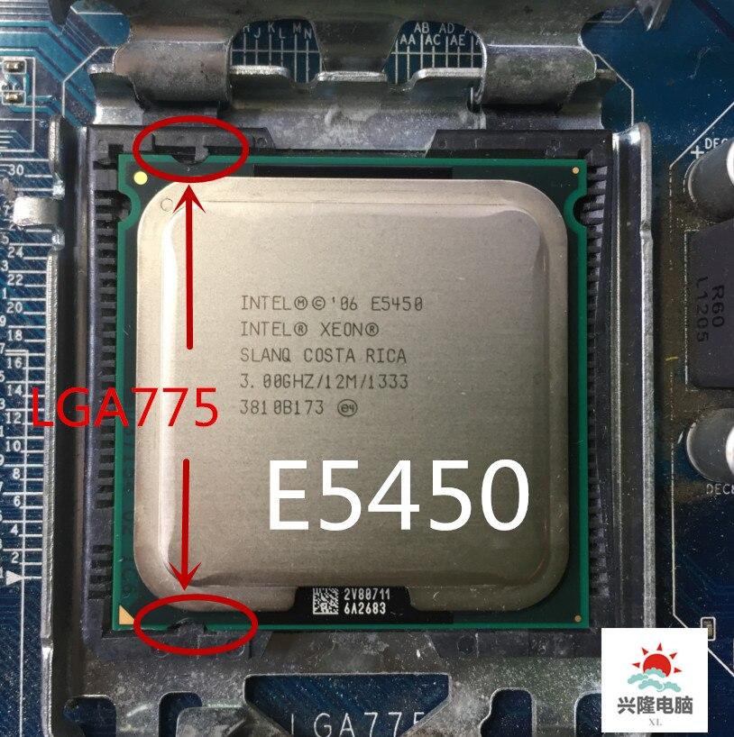 Процессор E5450, четырехъядерный процессор e5450 Intel Xeon SLANQ или SLBBM 3,0 ГГц, 12 Mбит, 1333 МГц, гнездовой разъем 775, материнская плата LGA 775 без адаптера